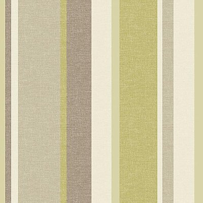 Raya Green Linen Stripe Wallpaper