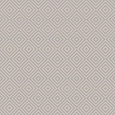Metropolitan Grey Geometric Diamond Wallpaper
