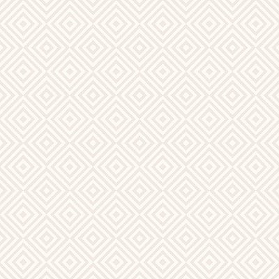 Metropolitan Beige Geometric Diamond Wallpaper