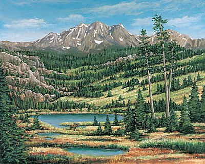 Mountain Scenic Wall Mural