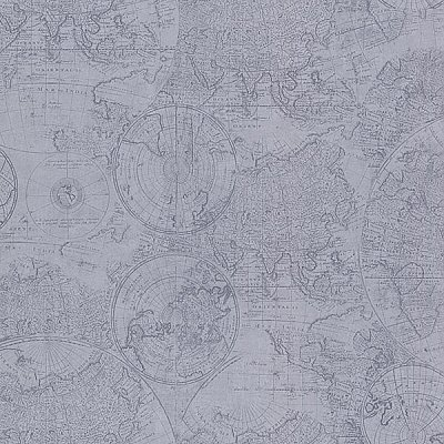 Cartography Blue Vintage World Map Wallpaper