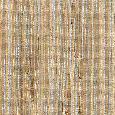 Tereza Silver Foil Grasscloth Wallpaper