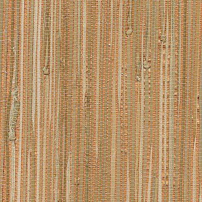 Tereza Coral Foil Grasscloth Wallpaper