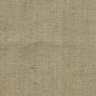 Ruslan Taupe Grasscloth Wallpaper