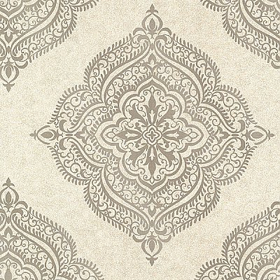 Capella Flax Medallion Wallpaper
