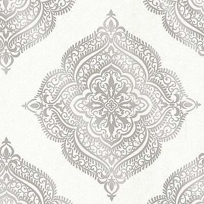 Capella Cream Medallion Wallpaper