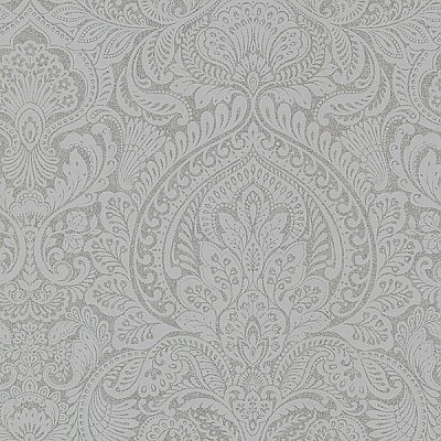 Alistair Pewter Damask Wallpaper