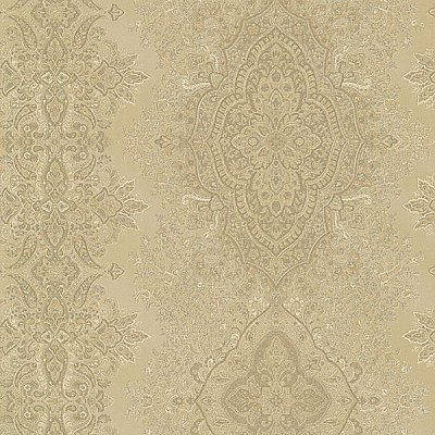 Benedict Gold Ornate Paisley Stripe Wallpaper