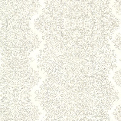 Benedict Cream Ornate Paisley Stripe Wallpaper