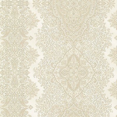 Benedict Beige Ornate Paisley Stripe Wallpaper