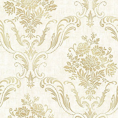 Manor Cream Floral Damask Wallpaper