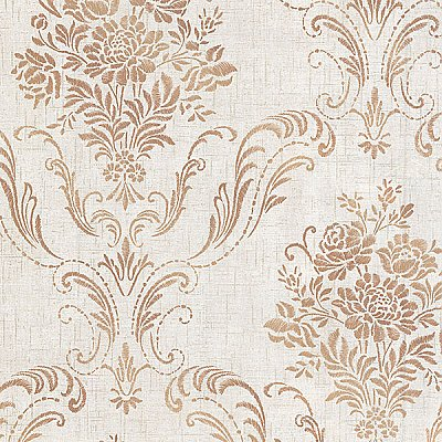 Manor Fog Floral Damask Wallpaper