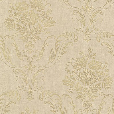 Manor Gold Floral Damask Wallpaper