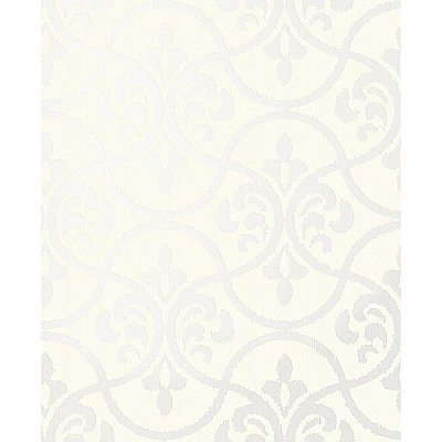 Interlude Cream Ogee Wallpaper
