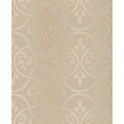 Interlude Taupe Ogee Wallpaper