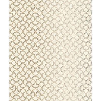 Scale Cream Geometric Wallpaper