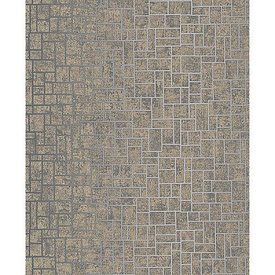 Etude Charcoal Geometric Wallpaper
