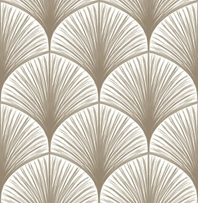 Dusk Taupe Frond Wallpaper