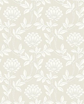 Ogilvy Platinum Floral Wallpaper