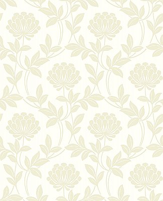 Ogilvy Bone Floral Wallpaper
