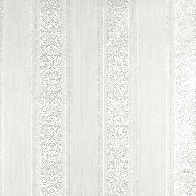 Mackenzie White Stripe Wallpaper