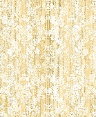 Camilia Honey Damask  Wallpaper