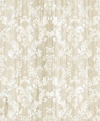 Camilia Beige Damask  Wallpaper