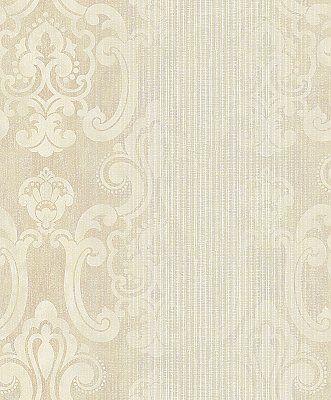 Ariana Gold Striped Damask Wallpaper
