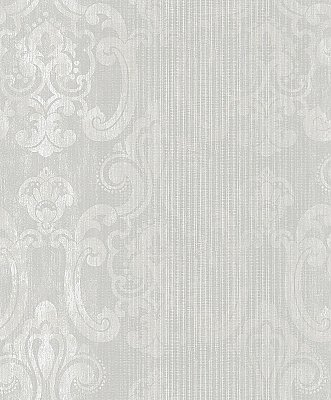 Ariana Pearl Striped Damask Wallpaper