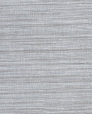 Tyrell Grey Faux Grasscloth Wallpaper