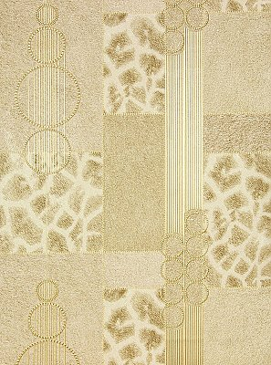 Serengeti Champagne Patchwork Wallpaper