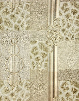 Serengeti Beige Patchwork Wallpaper