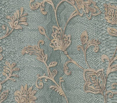 Puglia Teal Python Arabesque Wallpaper