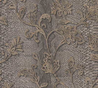 Puglia Chocolate Python Arabesque Wallpaper