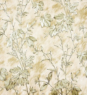 Portofino Beige Cow Leaves Wallpaper