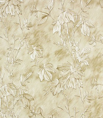 Portofino Cream Cow Leaves Wallpaper