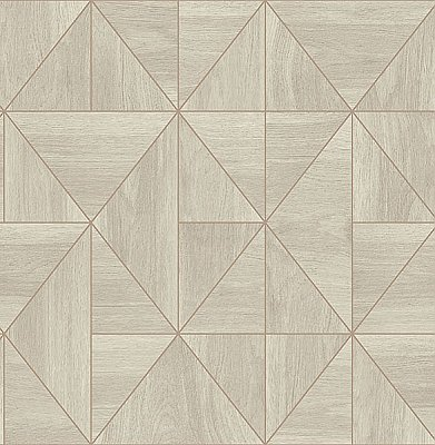 Cheverny Grey Wood Tile Wallpaper