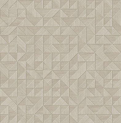Gallerie Grey Triangle Geometric Wallpaper