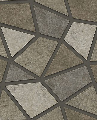 Coty Stone Geometric Patchwork Wallpaper