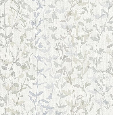 Thea Grey Floral Trail Wallpaper