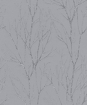 Diani Pewter Metallic Tree Wallpaper