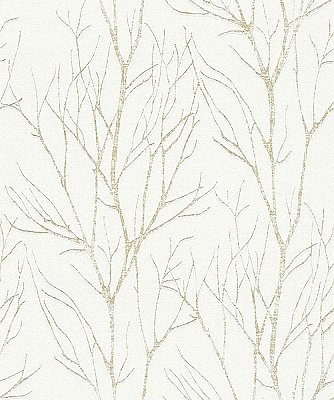 Diani Gold Metallic Tree Wallpaper
