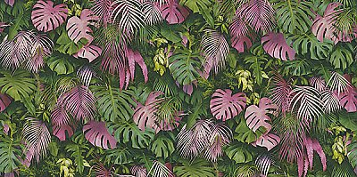 Luana Pink Tropical Forest Wallpaper