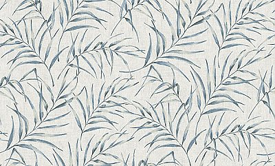Lani Blue Fronds Wallpaper