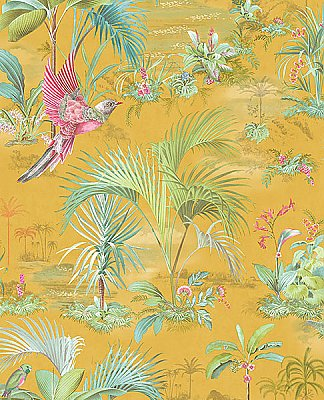Calliope Yellow Palm Scenes Wallpaper