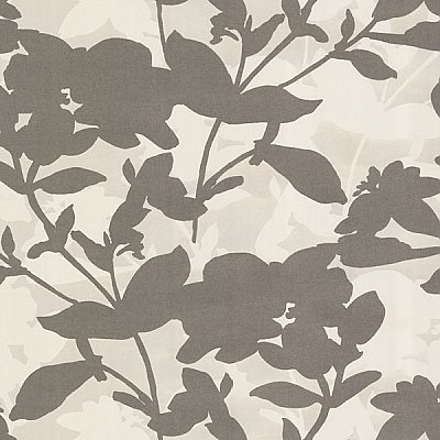 Brown Large Scale Floral Wallpaper