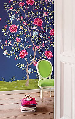 Blue Morning Glory Wall Mural