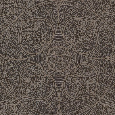 Yasamin Espresso Mehndi Medallion Wallpaper