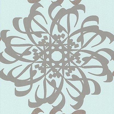 Hazar Afsan Aquamarine Modern Medallion Wallpaper