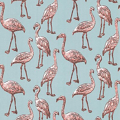 Flamingo Turquoise Graphic Wallpaper